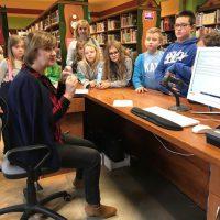 Lekcja biblioteczna w Miejskiej Bibliotece Publicznej