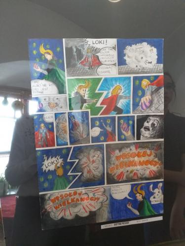 Konkurs plastyczny na komiks Wielkanocna Historyjka