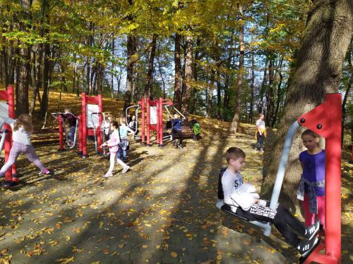 Z wizytą w sanockim parku